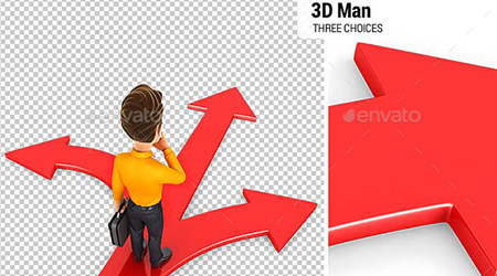 renders 3d envato elements man three choices